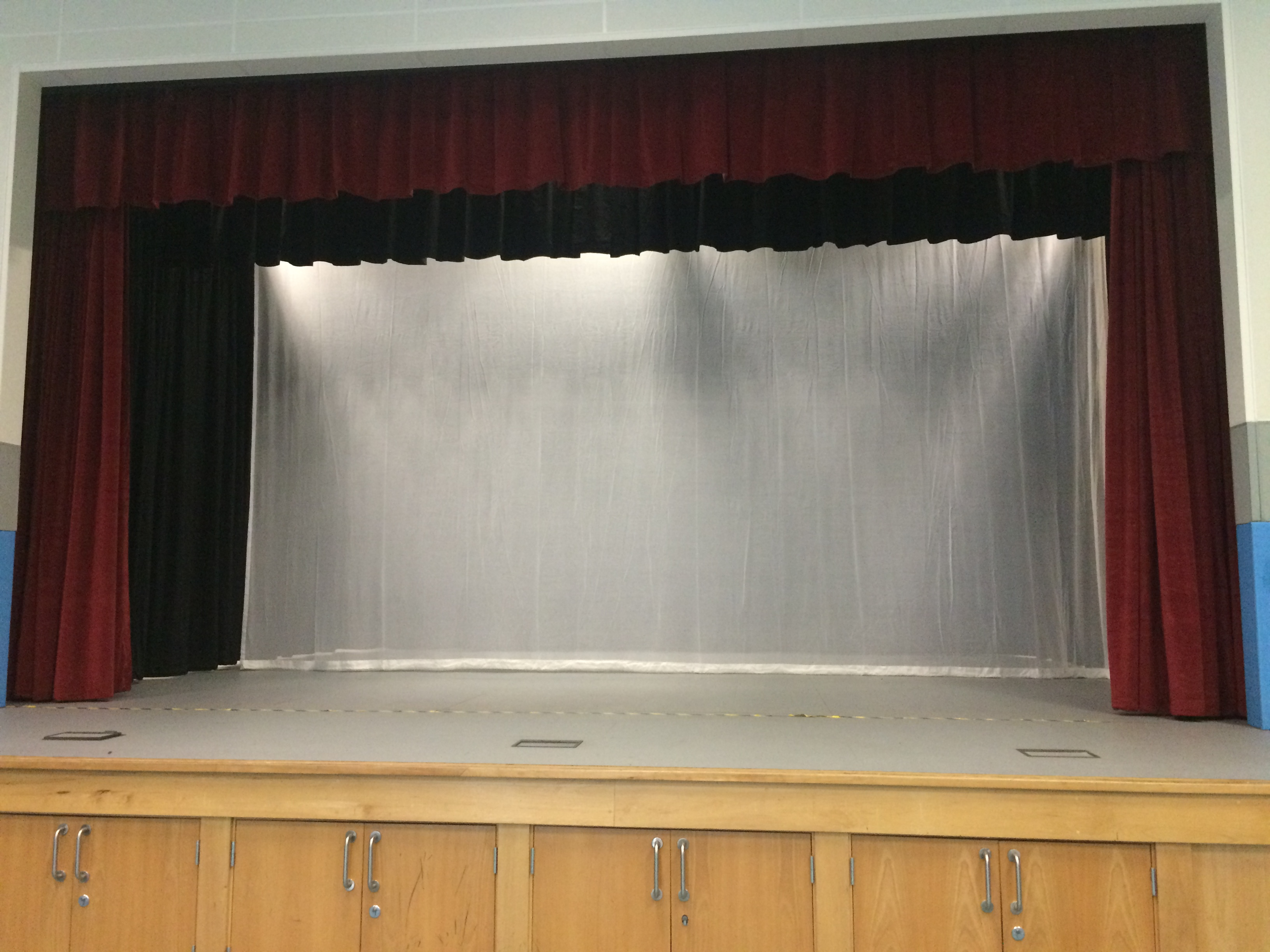Stage showing use of gauze fabric