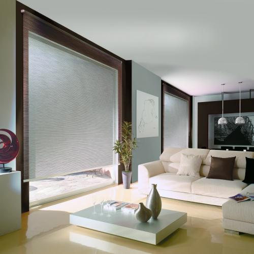freehanging roller blinds in a modern house